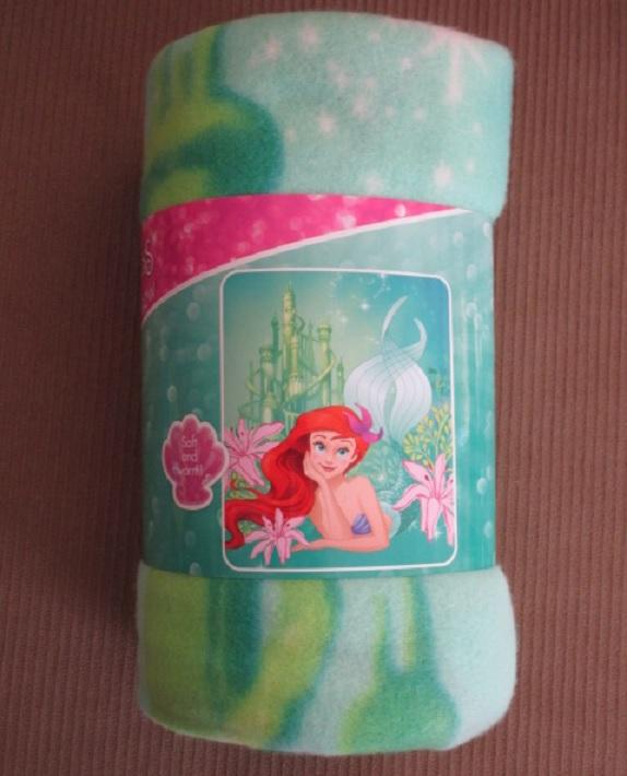 New Disney Ariel The Little Mermaid Under the Sea Fleece Throw Gift Blanket NIP