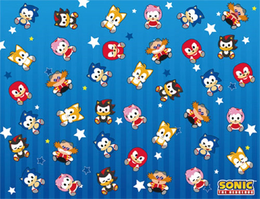 New Chibis Sonic The Hedgehog Cast Fleece Throw Gift Blanket Sega Video Game Nip Ebay